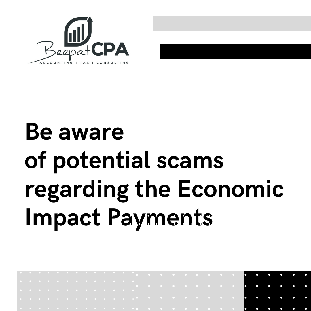 Be Aware of Scams: Economic Impact Payments