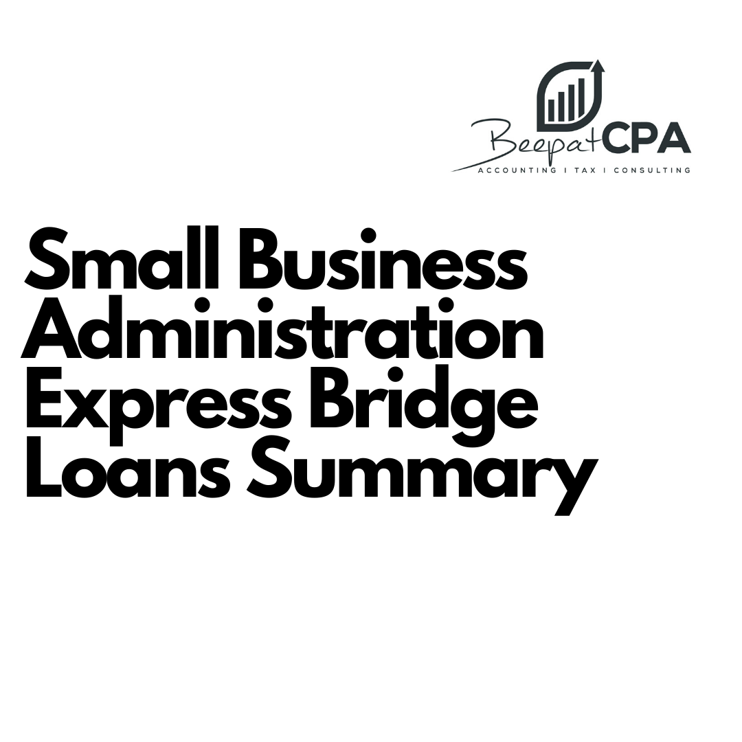Small Business Administration Express Bridge Loans Summary